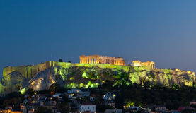 Acropolis Parthenon by night, Athens, Greece Royalty Free Stock Photography