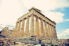 Acropolis Parthenon. Parthenon temple on the Acropolis of Athens,Greece, instagram look Stock Photo