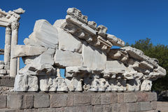 The Acropolis in Pergamon, Turkey. Royalty Free Stock Images