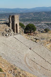 The Acropolis with Pergamon, Turkey. Stock Image