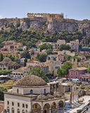 Acropolis and Plaka, Athens Greece Royalty Free Stock Image