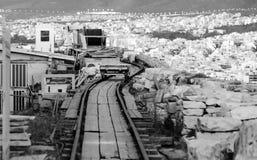 Acropolis railway track Stock Photography