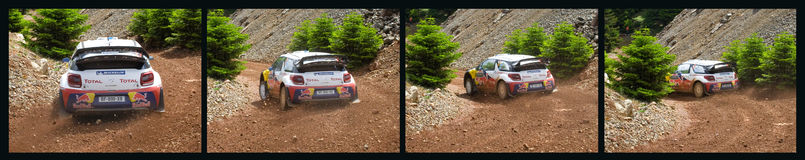 Acropolis Rally of Greece Stock Photos