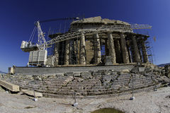 Acropolis in reconstruction Royalty Free Stock Photo