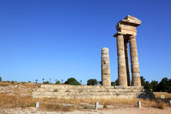 Acropolis on Rhodes. Ancient acropolis on the island of Rhodes stock photo