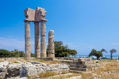 Acropolis of Rhodes Stock Photo