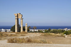Acropolis of Rhodes Royalty Free Stock Image