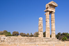 Acropolis of Rhodes city Stock Images