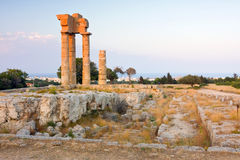 Acropolis of Rhodes at Monte Smith on the Island of Rhodes Greece. Royalty Free Stock Photos