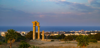 Acropolis of Rhodes at Monte Smith on Rhodes, Greece Stock Images