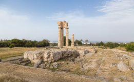 Acropolis of Rhodes town, Greece Stock Images