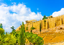 Acropolis rock Royalty Free Stock Images