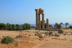Acropolis ruins on Monte-Smith mountain. Rhodes, Greece Stock Images
