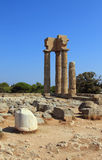 Acropolis ruins. Rhodes, Greece Royalty Free Stock Images