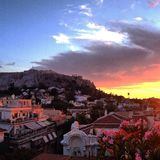 Acropolis sunset Royalty Free Stock Images