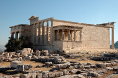 Acropolis temple of athena stock photos
