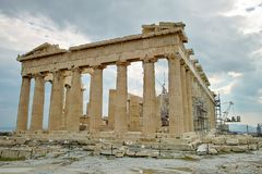 Acropolis Temple in Athens Stock Photos