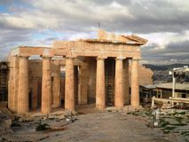 Acropolis Temple Athens Greece Stock Images