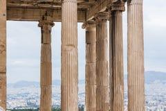 Acropolis Temple Columns. Athens, Greece stock photo