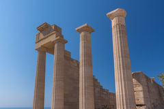 Acropolis Temple Lindos Royalty Free Stock Photography