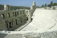 Acropolis theatre royalty free stock photography