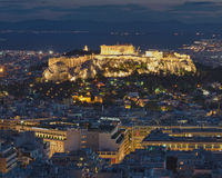 Acropolis at twilight Royalty Free Stock Images