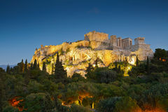 Acropolis. View of Acropolis from Areopagus hill royalty free stock photos