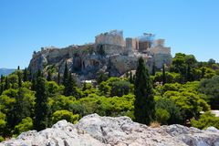 Acropolis view. View to acropolis in athenes in greece Royalty Free Stock Image