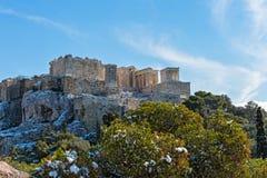Acropolis in the winter Stock Photos