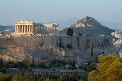acropolisathens berömd greece landmark arkivbild
