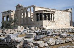 acropolisathens erechtheion Arkivbild