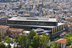 acropolisathens greece museum Royaltyfri Foto