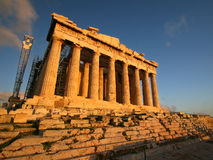 acropolisathens greece parthenon royaltyfri fotografi