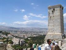 acropolisathens greece parthenon Royaltyfri Fotografi