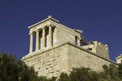 acropolisathens greece propylaia Arkivfoton