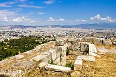 Acropolisen fördärvar Arkivfoton