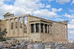 acropoliserechtheum greece royaltyfri fotografi