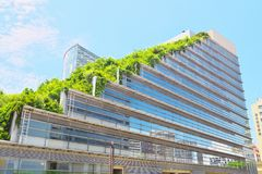Acros Fukuoka in Fukuoka, Japan Stockfotos