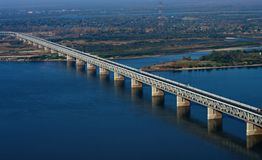 Across the Amur River stock images