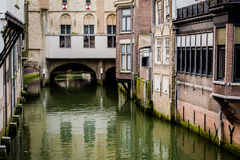 Across the city. An inspiring canal across the city Stock Photography