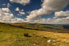 Across the hills. Looking out across the Brecon Beacons National Park Stock Photo
