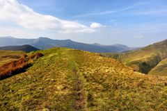 Across Knott Rigg to the Buttermere Fell. Ridge over to High Snockrigg Stock Photos