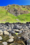 Across Port Noffer to the Organ Pipes, Giants Causeway Royalty Free Stock Photo