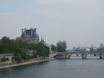 Across the Seine River. The Seine River flows from Dijon in the Alps, through Paris, joining the sea at Le Havre on the French coast. It is the second longest Royalty Free Stock Images