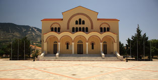 Across the square to Gerasssimos Monastery Royalty Free Stock Image