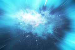 Across the universe. Traveling in space. Time travel. Scene of overcoming the temporary space in cosmos. 3d rendering. Across the universe. Traveling in space Royalty Free Stock Photography