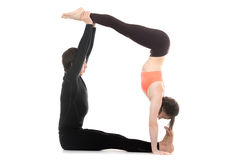 Acroyoga, handstand Stock Images