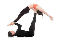 Acroyoga, high Flying Whale Stock Images