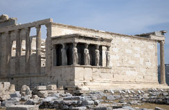 Acrópolis Atenas de Erechtheion Imágenes de archivo libres de regalías