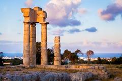 Acrópolis de Rodas Foto de archivo libre de regalías